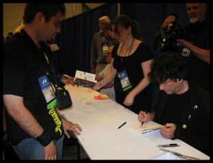 Avec Neil Gaiman (WorlCon)